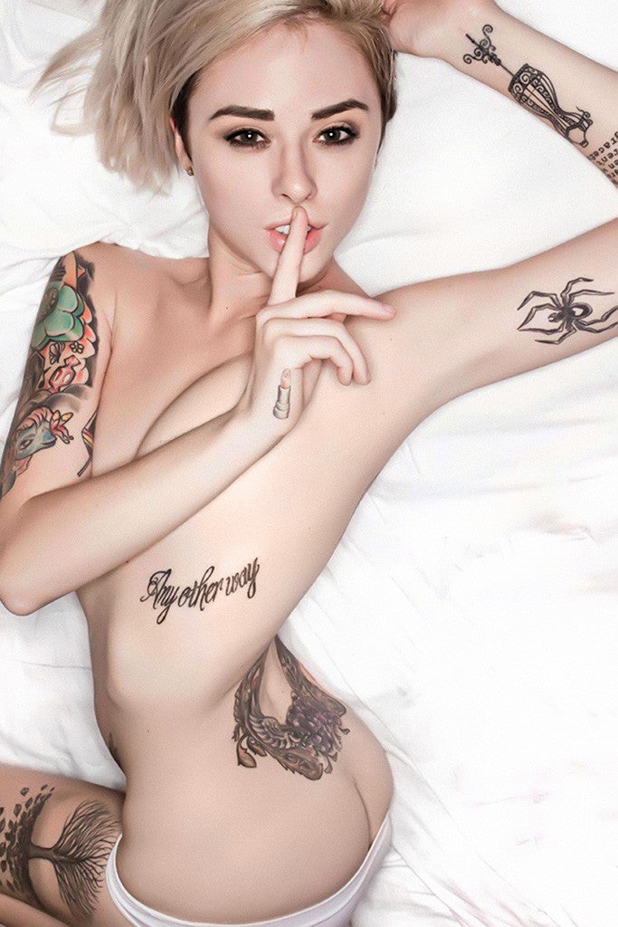 Alysha Nett Hot Sexy Girl with Tattoos Poster