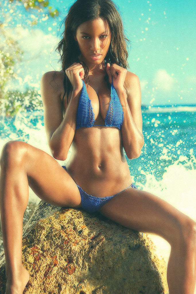 Ebonee Davis Hot Sexy Girl Model Bikini Body Poster