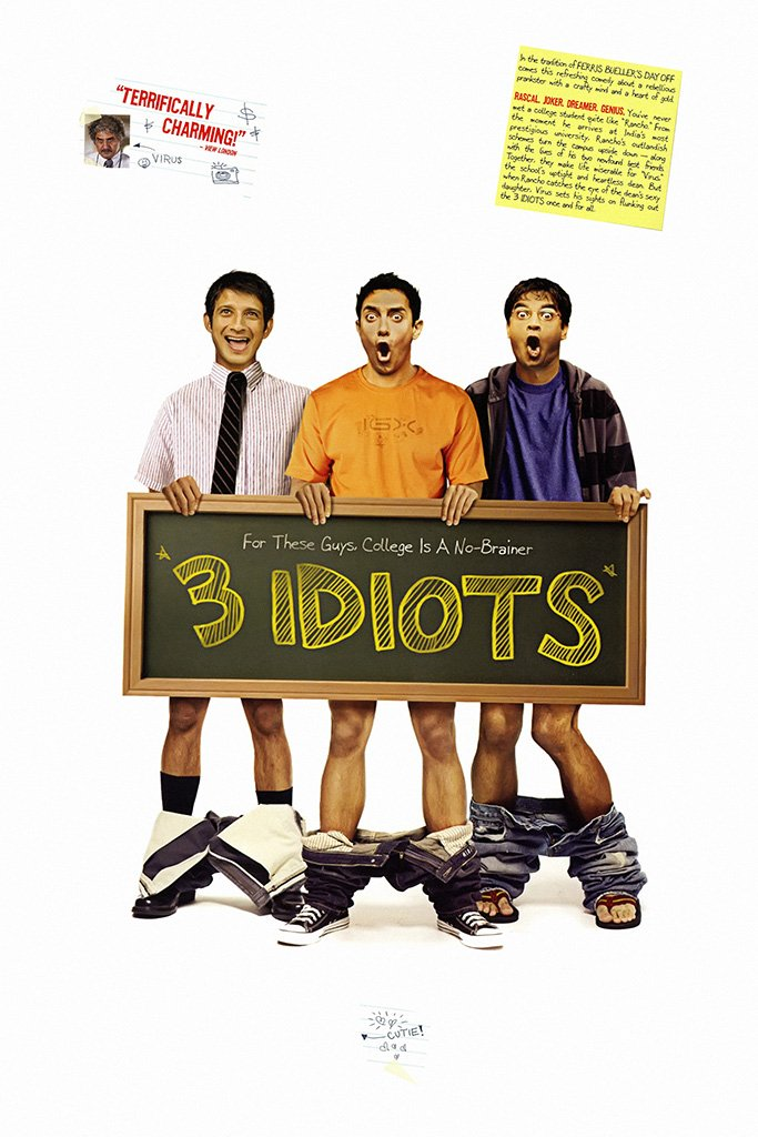 3 Idiots Bollywood Movie Poster