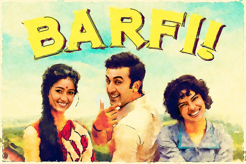 Barfi! Bollywood Movie Poster
