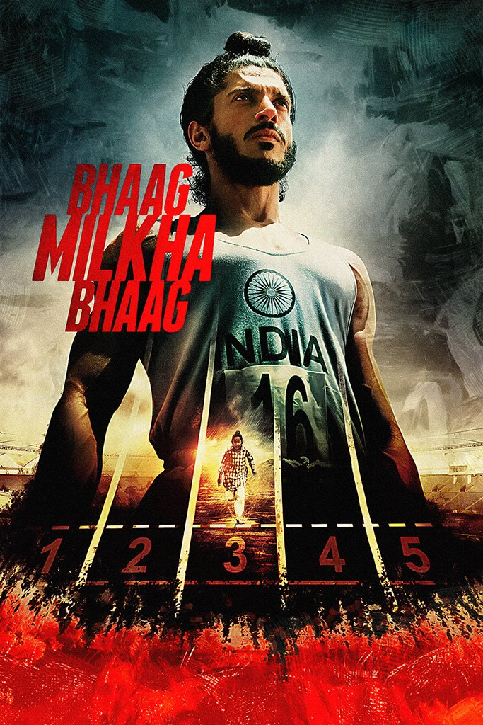 Bhaag Milkha Bhaag Hindi Old Film Poster