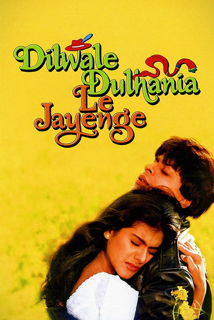 Dilwale Dulhania Le Jayenge Hindi Bollywood Indian Old Film Movie Poster
