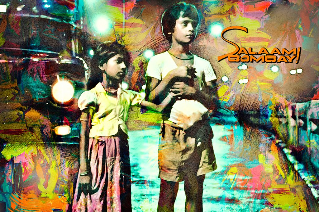 Salaam Bombay! Bollywood Movie Poster