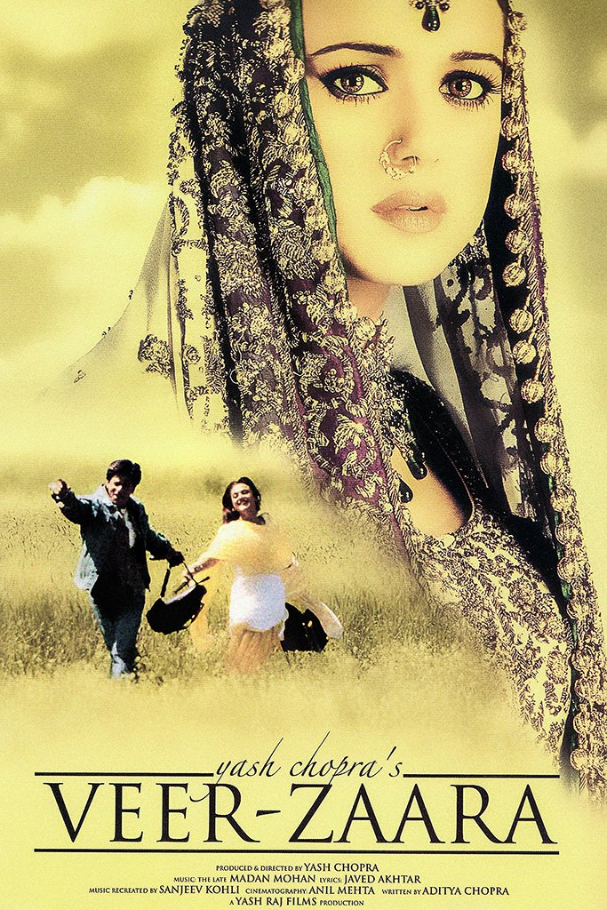 Veer-Zaara Hindi Old Film Poster