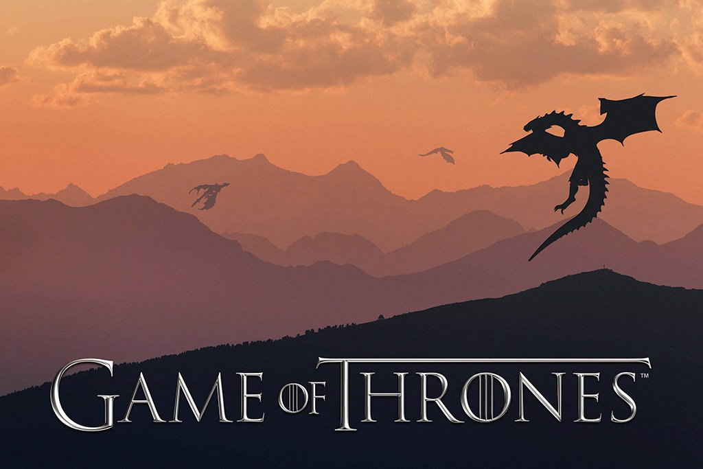 Game of Thrones Season 7 Dragons Fan Art Poster