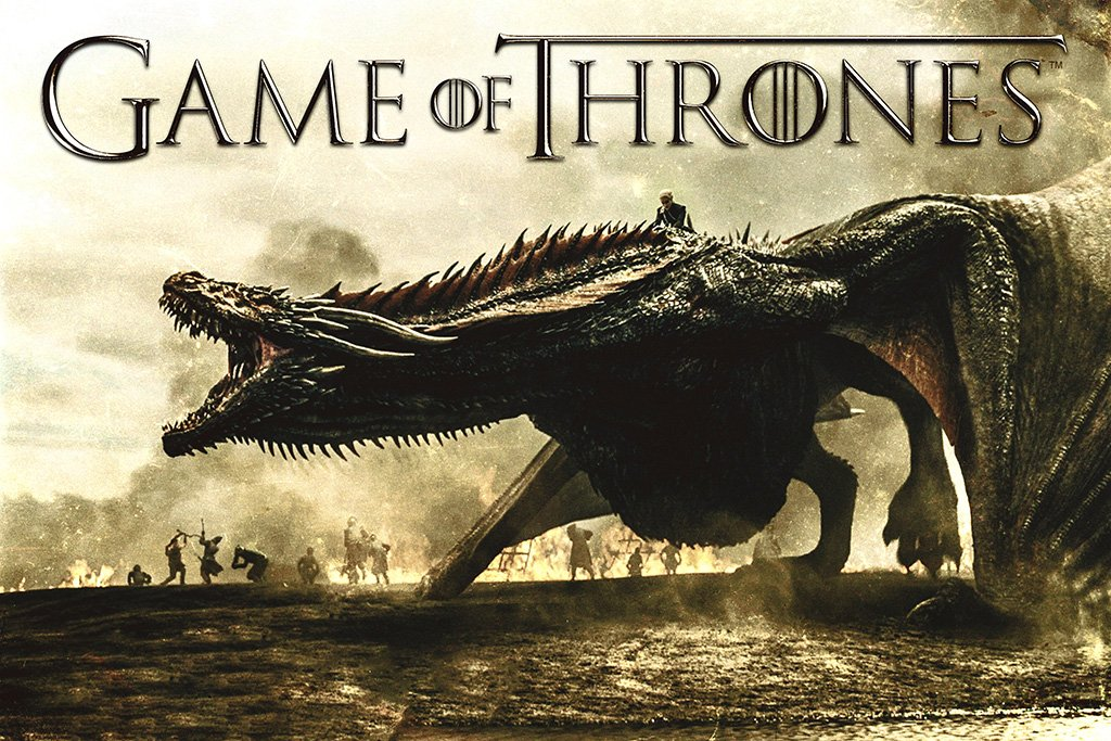 Game of Thrones Season 7 Daenerys Targaryen on Drogon Poster