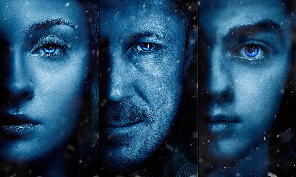 Game of Thrones Season 7 Sansa Arya Stark Petyr Baelish Poster