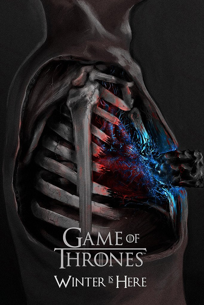 Game of Thrones Winter is Here Fan Art Poster