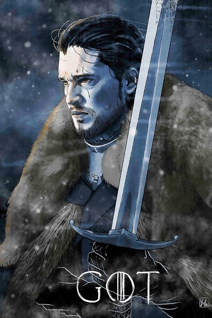 Game of Thrones Jon Snow Fan Art Poster