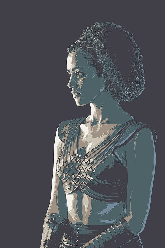 Game of Thrones Season 7 Missandei Fan Art Poster