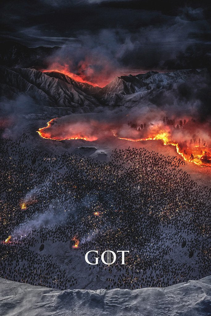 Game of Thrones Biggest Fire the North Has Ever Seen Poster