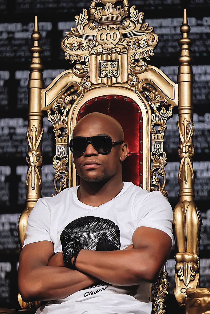 Floyd Mayweather Throne Poster