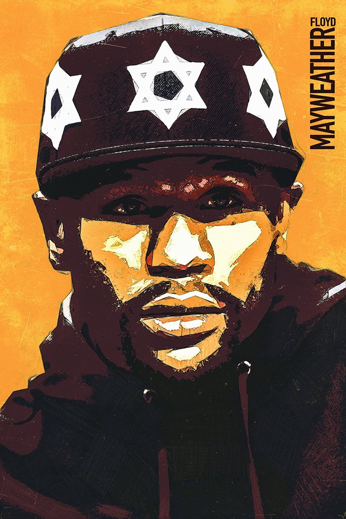 Floyd Mayweather Face Fan Art Poster