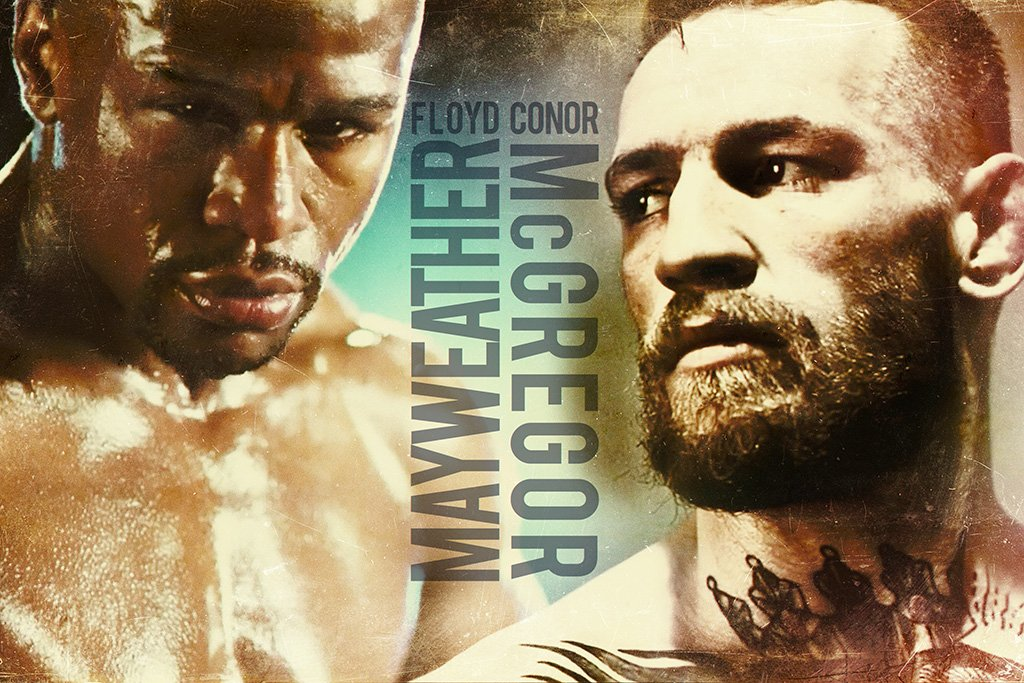 Conor McGregor vs Floyd Mayweather Fan Art Poster