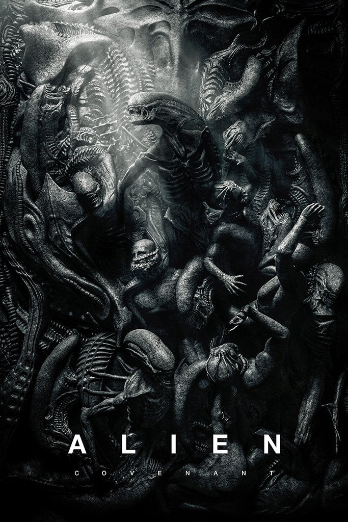 Alien Covenant Black and White Movie Poster
