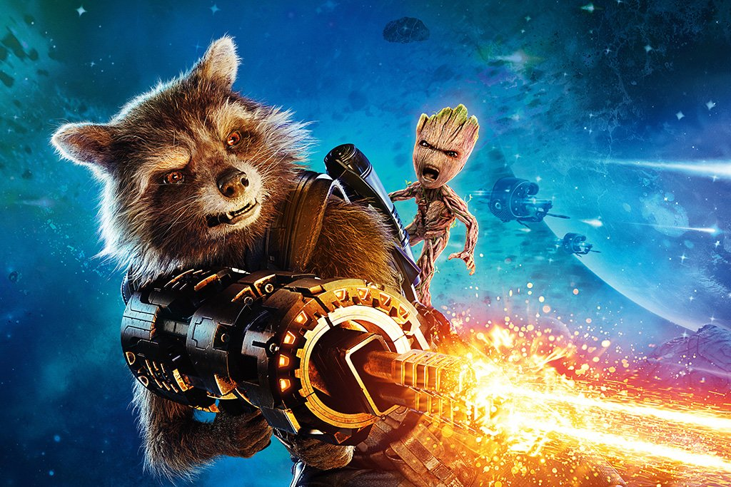 Guardians of the Galaxy Vol. 2 Rocket Raccoon Poster