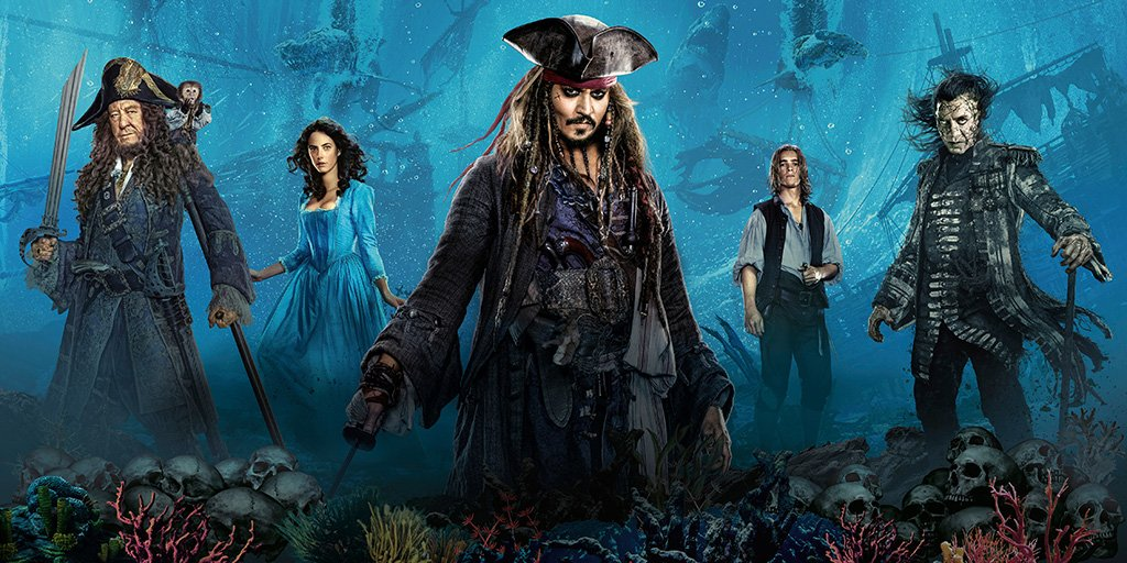 Pirates of the Caribbean Dead Men Tell No Tales Characters Poster
