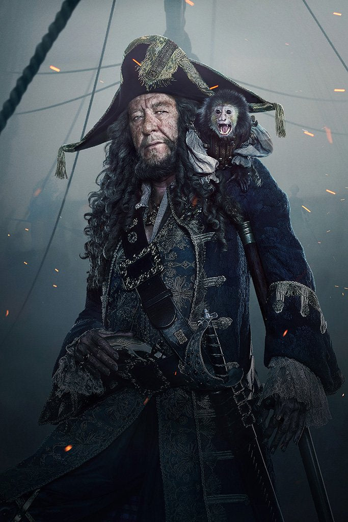 Pirates of the Caribbean Dead Men Tell No Tales Hector Barbossa Poster