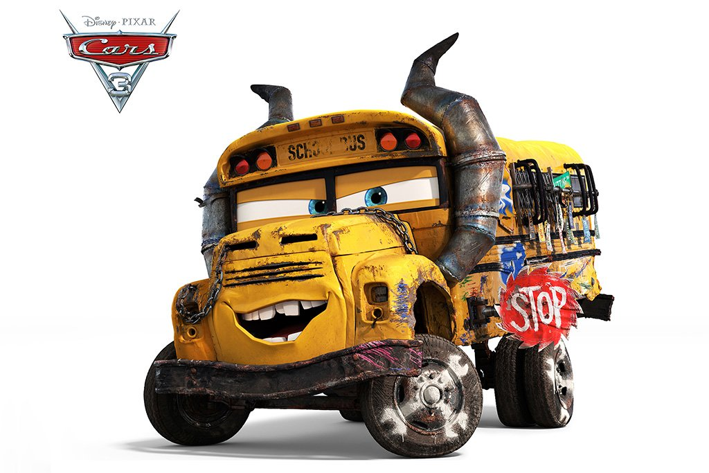 Cars 3 2017 Miss Fritter School Bus Movie Poster