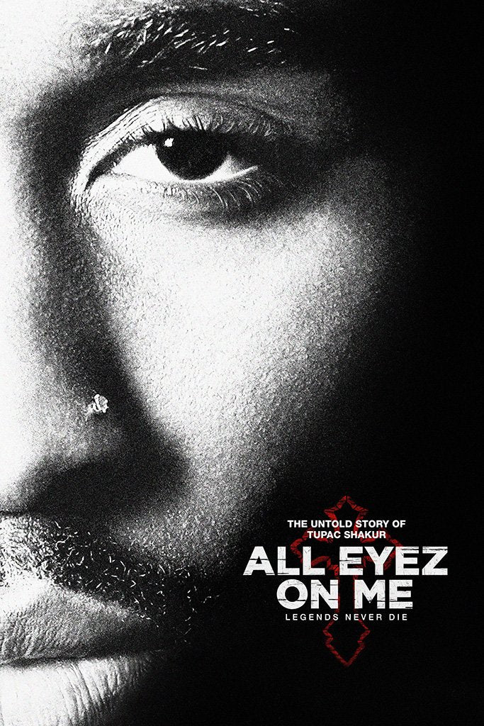 All Eyez on Me Tupac Shakur B&W Poster