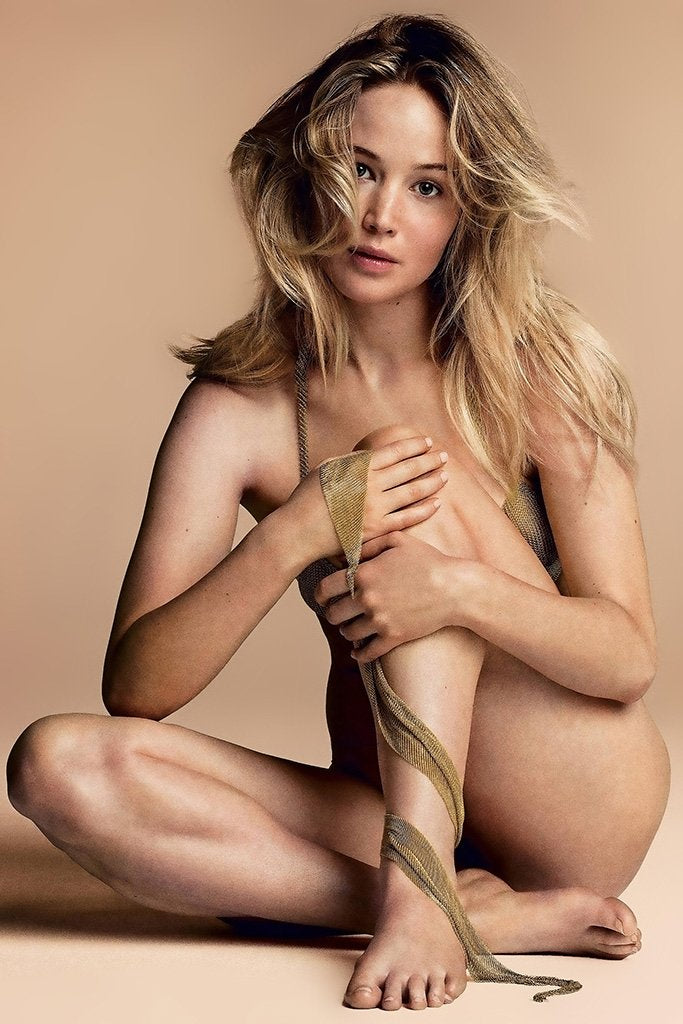 Jennifer Lawrence Naked Poster