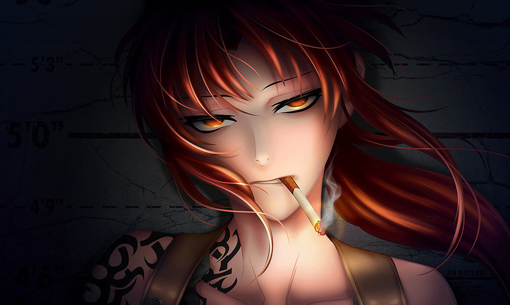 Black Lagoon Anime Girl Smoke Tatttoo Manga Poster