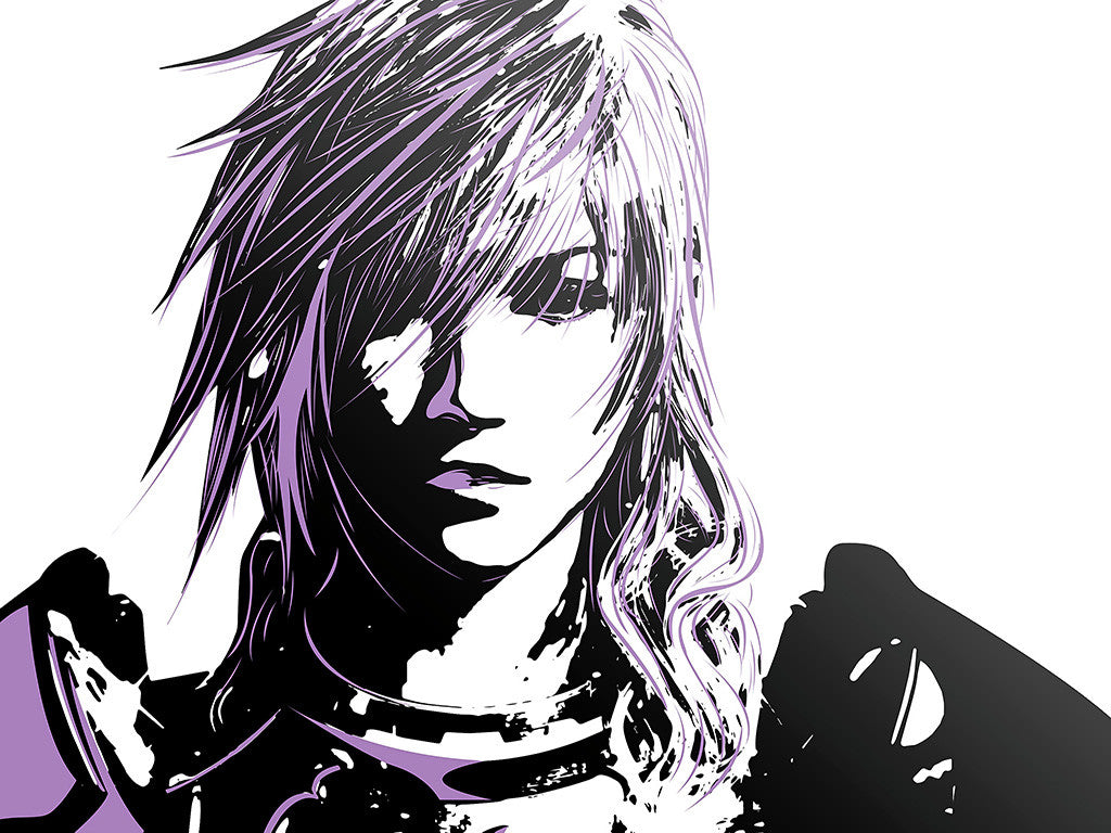 Final Fantasy XIII FFXIII Game Anime Lilac Color Poster