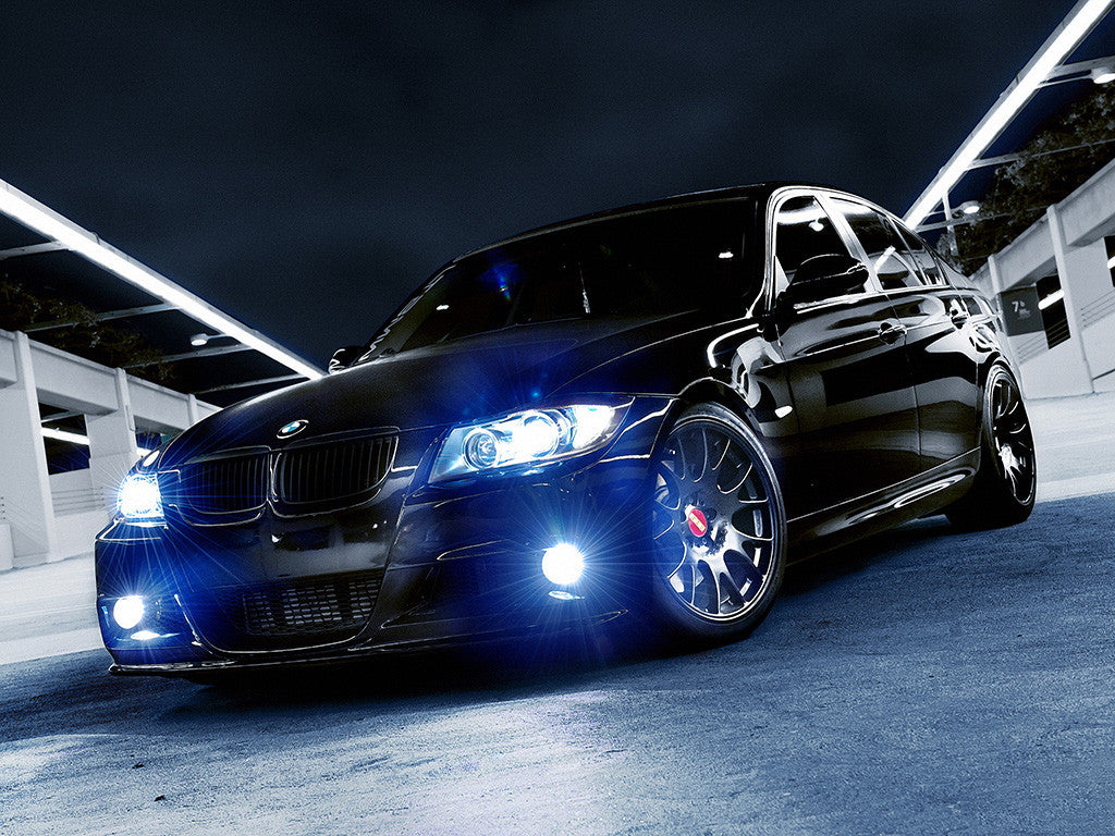 Car BMWangel Eyes Blue Leds Poster