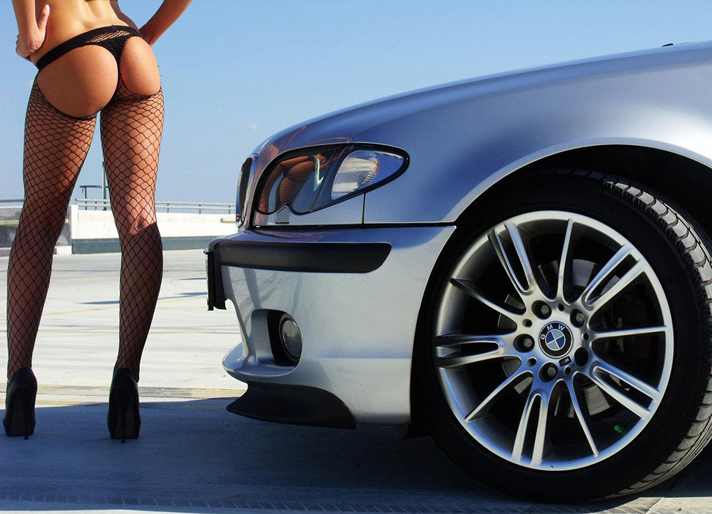 Car BMW Sexy Girl Legs Poster