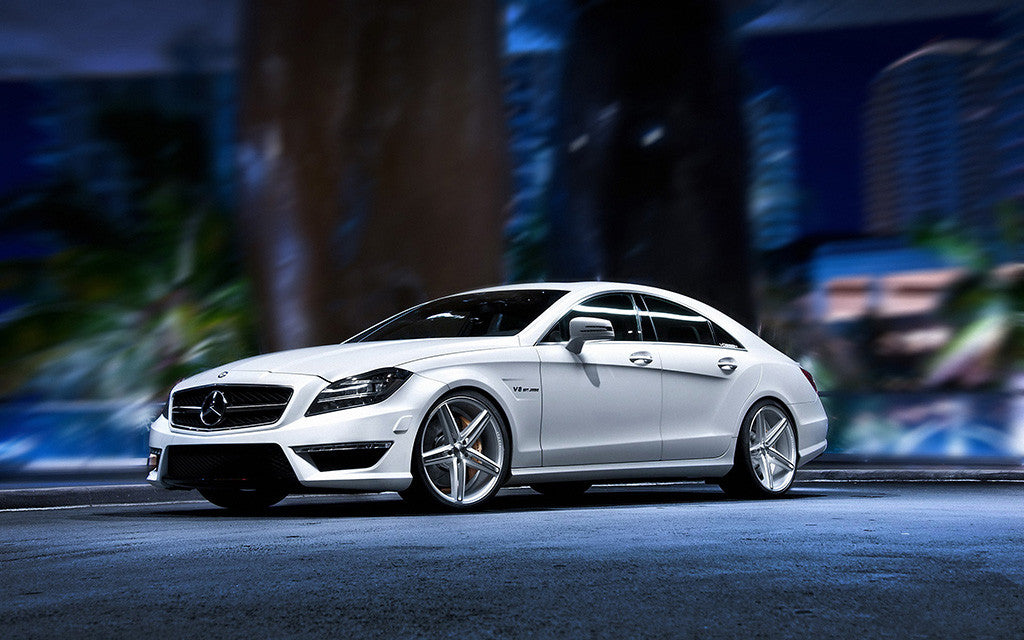 Auto Mercedes CLS Night Blur Tuning AMG Poster