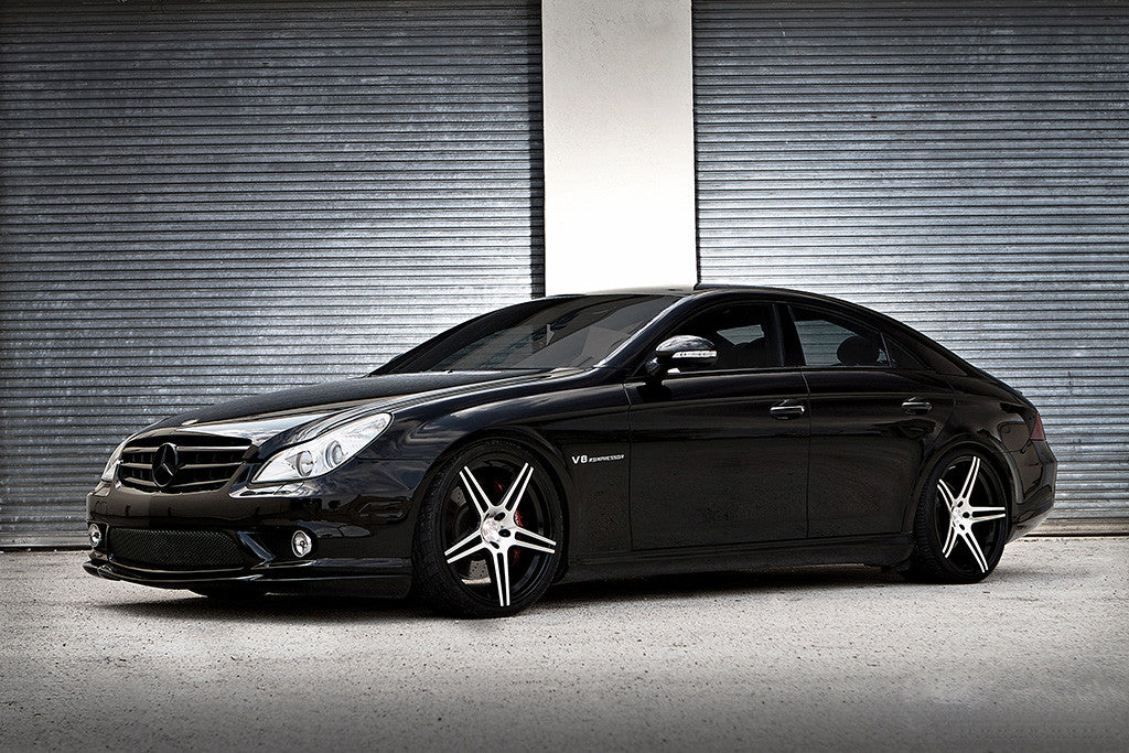 Auto Black Car Mercedes CLS 55 Poster