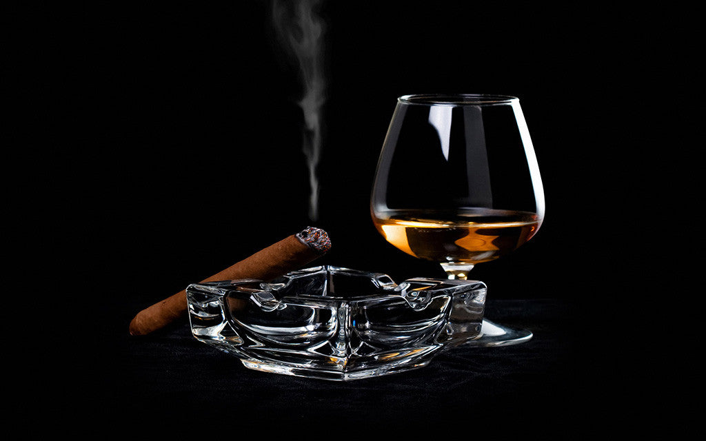 Whiskey Cigars Alcohol Poster