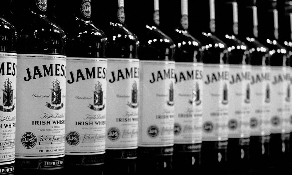 Whiskey Jameson Alcohol Black and White Poster
