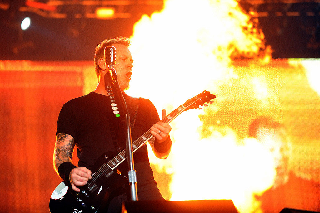 James Hetfield Metallica Metal Rock Music Fire Poster