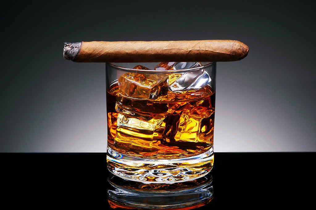 Whiskey Cigar Alcohol Poster