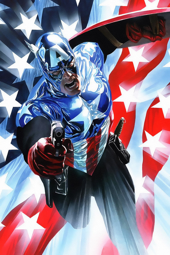 Captain America Us Flag Movie Fan Art Poster