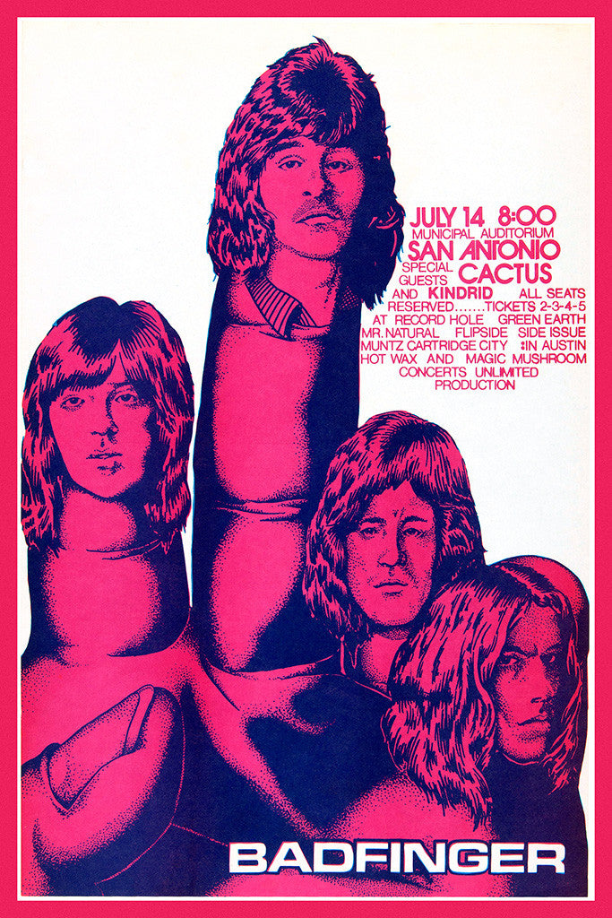 Badfinger Fingers Classic Rock Poster