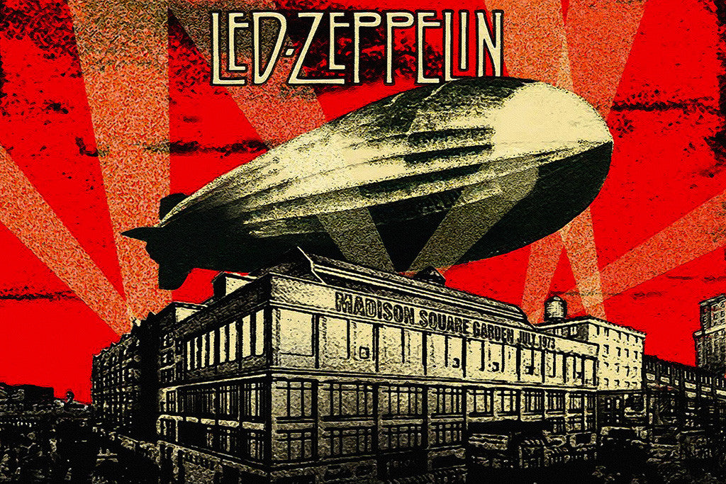 Led Zeppelin Album Cover Mothership Classic Rock Poster
