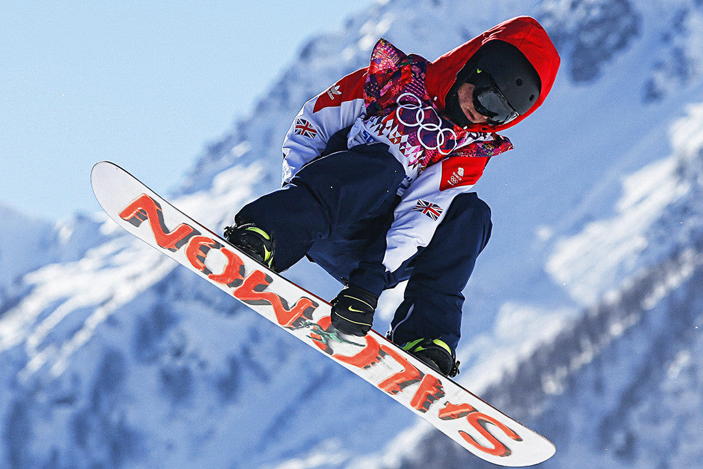British Snowboarder Olympic Games Sochi Sport Poster
