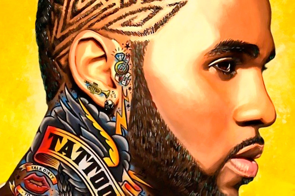 Jason Derulo Tattoo Music Poster