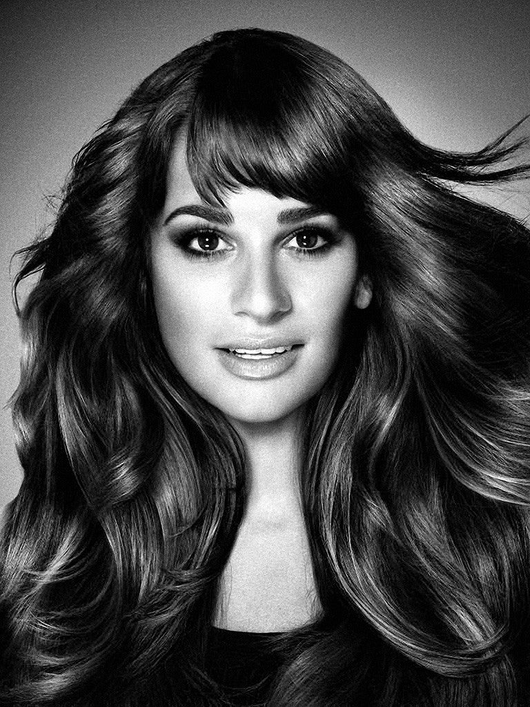 Lea Michele Hot Music Black and White Poster