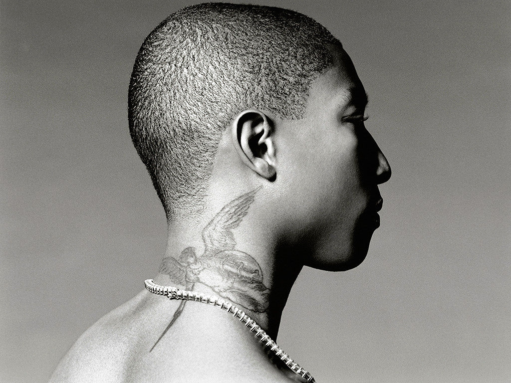 Pharrell Williams Music Black and White Poster