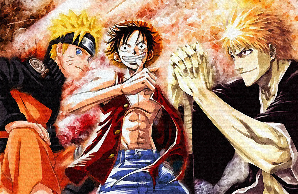 Naruto Vs Bleach Vs One Piece Anime Poster