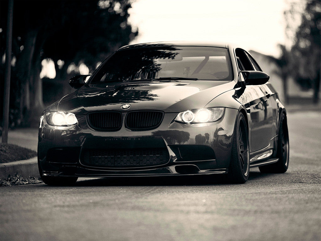 BMW M Series Black and White Poster