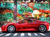 Red Ferrari Graffiti Colorful Vivid Poster