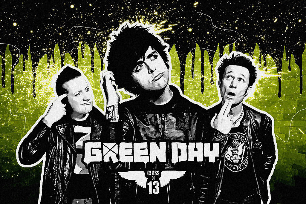Green Day Band Rock Music Poster