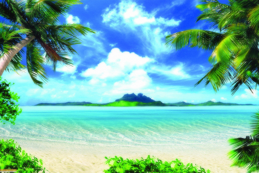 Beautiful Landscape Tropical Beach Sea Island Poster
