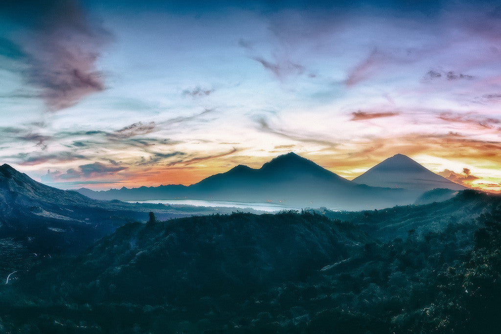 Beautiful Landscape Nature Kintamani Bali Mountains Poster