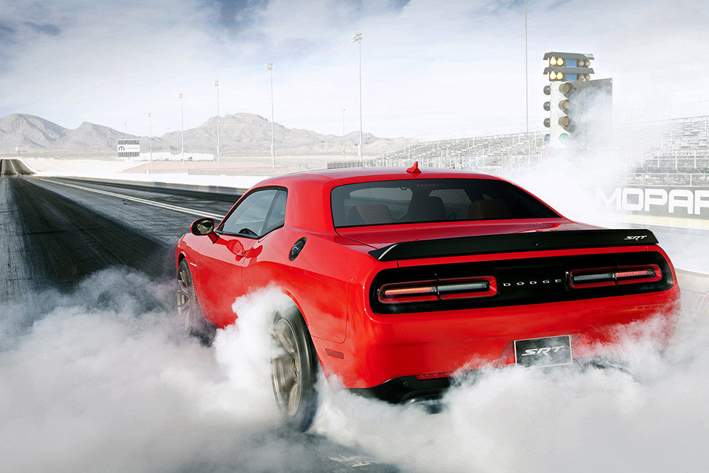 Dodge Challenger SRT Hellcat 2015 Drift Car Poster