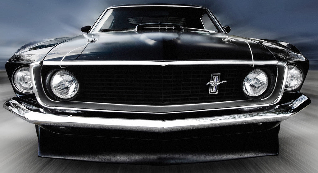 Ford Mustang Classic Retro Muscle Car Poster